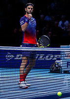 Tennis - 2019 Nitto ATP Finals at The O2 - Day Six<br /> <br /> Doubles Group Max Mirnyi: Juan Sebastien Cabal (COL) & Robert Farah (CAN) Vs. Kevin Krawietz (GER) & Andreas Mies (GER)<br /> <br /> Robert Farah (COL) celebrates <br /> <br /> <br /> COLORSPORT/DANIEL BEARHAM