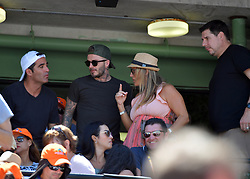 David Beckham, Victoria Beckham, Harper Beckham, Brooklyn Beckham and friend Marcelo Claure CEO of Sprint watch the Miami Open on April 1, 2018 in Key Biscayne, Florida, USA. 01 Apr 2018 Pictured: David Beckham, Victoria Beckham, Harper Beckham, Brooklyn Beckham and Marcelo Claure. Photo credit: MPI22/Capital Pictures / MEGA TheMegaAgency.com +1 888 505 6342