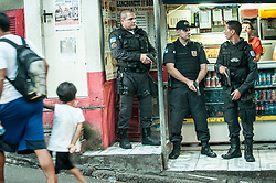 Brazilian police forces enter the Favela Pavão-Pavãozinho located in Copacabana. resume of the day, 3 wounds and one died due a grenade explosion.