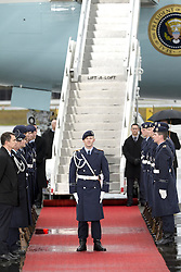 November 18, 2016 - Berlin, Germany - The guard of honour is pictured prior to the departure of US President Barack Obama as it takes position on the side of the red carpet at Tegel airport in Berlin, Germany on November 18, 2016. (Credit Image: © Emmanuele Contini/NurPhoto via ZUMA Press)