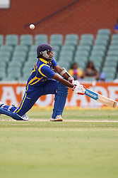 © Licensed to London News Pictures. 14/02/2012. Adelaide Oval, Australia. Sri Lankan batsman Mahela Jayawardena plays a sweep shot during the One Day International cricket match between India Vs Sri Lanka. Photo credit : Asanka Brendon Ratnayake/LNP