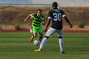 Forest Green Rovers Liam Noble(8) runs forward during the Pre-Season Friendly match between SC Farense and Forest Green Rovers at Estadio Municipal de Albufeira, Albufeira, Portugal on 25 July 2017. Photo by Shane Healey.