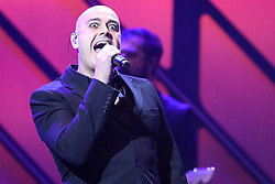 October 16, 2018 - Nashville, TN, U.S. - NASHVILLE, TN - OCTOBER 16: Peter Furler of Newsboys (United) performs during the 49th Annual Dove Awards on October 16, 2018, at Allen Arena in Nashville, TN. (Photo by Jamie Gilliam/Icon Sportswire) (Credit Image: © Jamie Gilliam/Icon SMI via ZUMA Press)