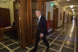 May 4, 2017 - Athens, Attiki, Greece - Minister of Justice, Transparency and Humans Rights Stavros Kontonis on his way to the Cabinet. (Credit Image: © Dimitrios Karvountzis/Pacific Press via ZUMA Wire)