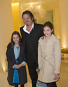 CHARLES BOORMAN AND HIS CHILDREN KINVARA AND DOONE, Gala performance of Night Of The Snow Queen, English National Ballet. Coliseum, London, WC2,pre performance party at  St Martins Lane Hotel, 45 St Martins Lane, London, WC2N 4HX. 12 December 2007. -DO NOT ARCHIVE-© Copyright Photograph by Dafydd Jones. 248 Clapham Rd. London SW9 0PZ. Tel 0207 820 0771. www.dafjones.com.
