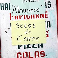South America, Ecuador, San Pablo del Lago. Special menu for Dia de Los Muertos in Ecuador.