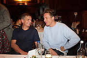 ANDREAS GURSKY; CYPRIEN GAILLARD, Opening of Morris Lewis: Cyprien Gaillard. From Wings to Fins, Sprüth Magers London Grafton St. London. Afterwards dinner at Simpson's-in-the-Strand hosted by Monika Spruth and Philomene Magers.