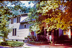 Look residence, Caroline St. Peking IL 1959 <br /> <br />  Photos taken by George Look.  Image started as a color slide.