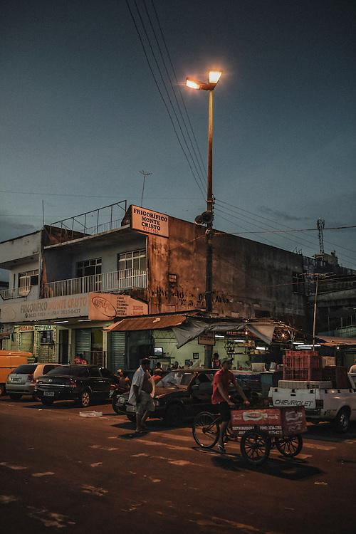 Brazil, Amazonas, rio Negro, Manaus. <br /> <br /> Quartier du port.