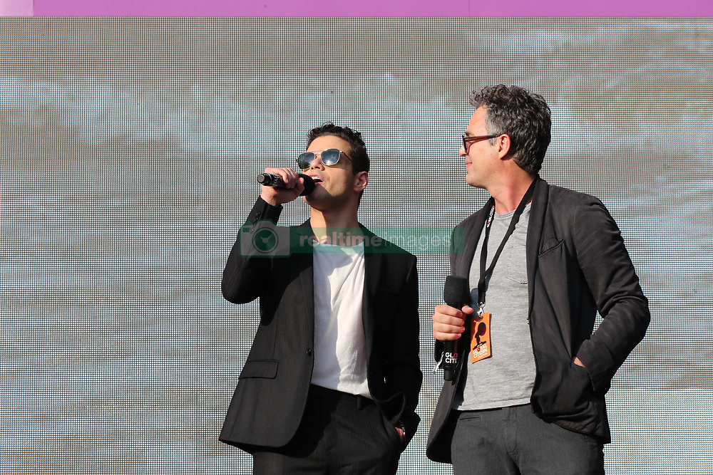 Mark Ruffalo and Rami Malek at the 2018 Global Citizen Festival: Be The Generation in Central Park in New York City.