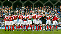 Fotball<br /> Premier League England 2004/2005<br /> Foto: BPI/Digitalsport<br /> NORWAY ONLY<br /> <br /> Manchester City v Arsenal<br /> FA Barclays Premiership. 25/09/2004.<br /> Arsenal observe the minutes silence in memory of Brian Clough