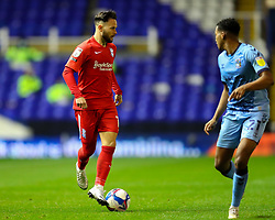 Birmingham City's Ivan Sanchez is tracked by Sam McCallum of Coventry City (on loan from Norwich City)  - Mandatory by-line: Nick Browning/JMP - 20/11/2020 - FOOTBALL - St Andrews - Birmingham, England - Coventry City v Birmingham City - Sky Bet Championship