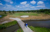 TILBURG -  hole Leij 6 .   PRISE D'EAU GOLF, golfbaan.  COPYRIGHT KOEN SUYK