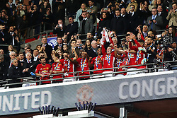 Wayne Rooney of Manchester United lifts the EFL Trophy - Mandatory by-line: Matt McNulty/JMP - 26/02/2017 - FOOTBALL - Wembley Stadium - London, England - Manchester United v Southampton - EFL Cup Final