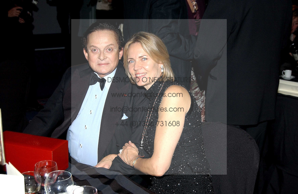 ALEC WILDENSTEIN and MRS ARNAUD BAMBERGER at the 2004 Cartier Racing Awards in association with the Daily Telegraph, held at the Four Seasons Hotel, London on 17th November 2004.<br /><br />NON EXCLUSIVE - WORLD RIGHTS