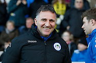 Wigan Athletic manager Warren Joyce during the EFL Sky Bet Championship match between Burton Albion and Wigan Athletic at the Pirelli Stadium, Burton upon Trent, England on 14 January 2017. Photo by Richard Holmes.