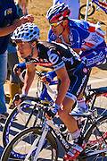 Professional cyclists at the Amgen Tour of California, Santa Monica Mountains, California
