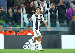 September 26, 2018 - Turin, Italy - Juventus v Bologna - Serie A .Paulo Dybala of Juventus celebrates after scoring the goal of 1-0 at Allianz Stadium in Turin, Italy on September 26, 2018. (Credit Image: © Matteo Ciambelli/NurPhoto/ZUMA Press)