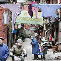 China ,Shanghai, March 2008..Streets in ancient Shanghai.