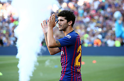 August 15, 2018 - Barcelona, Spain - Carles Alena during the presentation of the team 2018-19 before the match between FC Barcelona and C.A. Boca Juniors, corresponding to the Joan Gamper trophy, played at the Camp Nou, on 15th August, 2018, in Barcelona, Spain. (Credit Image: © Joan Valls/NurPhoto via ZUMA Press)