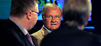 Manager - legende Ron Atkinson i Canal+ studio med Dag Solheim og Hallvard Thoresen <br /> Foto - Kasper Wikestad