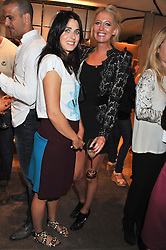 Left to right, EMILY SHEFFIELD and The HON.SOPHIA HESKETH at a party as part of the Vogue Fashion's Night Out held at Tod's, 2-5 Bond Street, London on 6th September 2012.