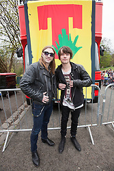 Steven Morrison and Kieren Webster, T in the Park Roadshow with The View at the first performance at Kelvingrove Park..© Michael Schofield..