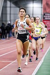womens 3000 meters, heat 1, Providence, Brianna Ilarda<br /> BU John Terrier Classic <br /> Indoor Track & Field Meet