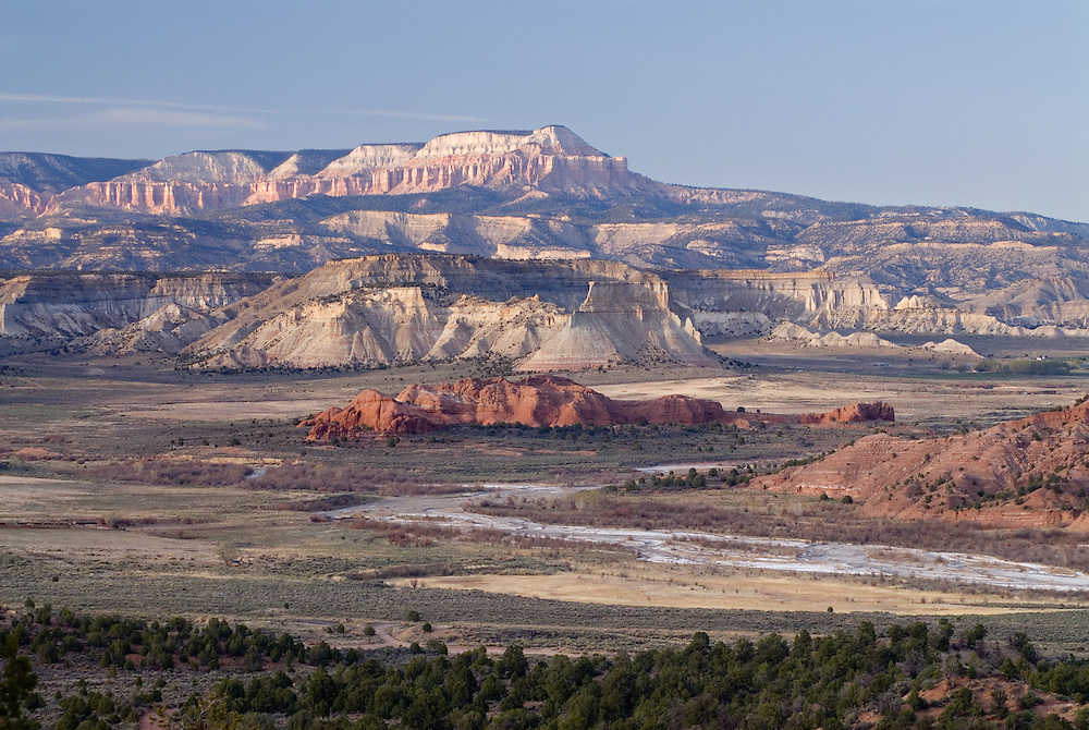 Paria River flowing through the desert of Grand Staircase - Escalante National Monument in Southern Utah.