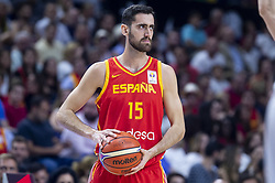 September 17, 2018 - Madrid, Spain - Joan Sastre of Spain during the FIBA Basketball World Cup Qualifier match Spain against Latvia at Wizink Center in Madrid, Spain. September 17, 2018. (Credit Image: © Coolmedia/NurPhoto/ZUMA Press)