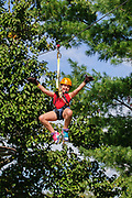 Dragonfly Zipline Adventure at Hocking Hills Canopy Tours in Rockbridge, Ohio.