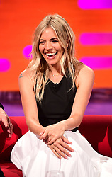 Sienna Miller during filming of the Graham Norton Show at the London Studios, to be aired on BBC One on Friday evening.