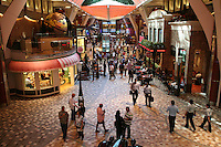 The launch of Royal Caribbean International's Oasis of the Seas, the worlds largest cruise ship..View of Royal Promenade