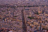 Rue Bonaparte (centre) & Paris Cityscape