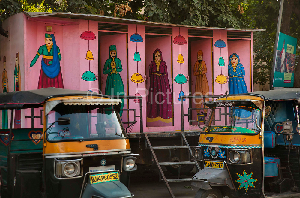 Free mixed public toilets, brainchild of Mayor Ashok Lahoti, on 4th February 2018 in Jaipur, Rajasthan, India. Over 18,000 individual household toilets and 200 public and community toilets have been built in Jaipur in four years, resulting in the city attaining open defecation free status