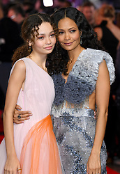 Nico Parker (left) and Thandie Newton attending the european premiere of Dumbo held at Curzon Mayfair, London. Photo credit should read: Doug Peters/EMPICS
