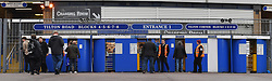 Fans make their way through the turnstiles of St Andrews, home of Birmingham City