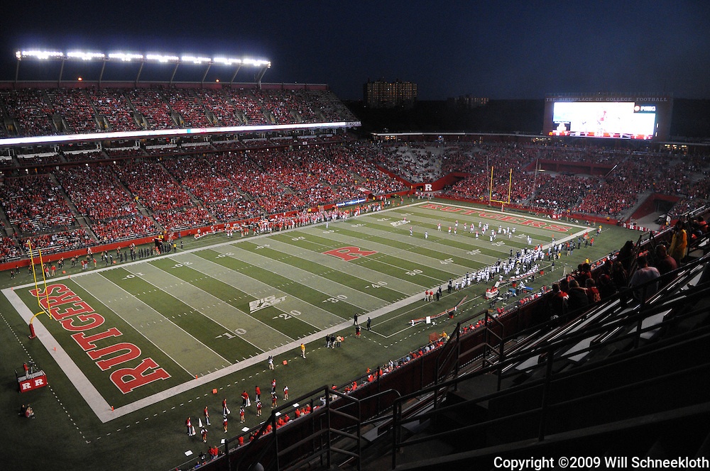 Sep 19, 2009; Piscataway, NJ, USA; Rutgers Stadium during the second half of Rutgers' 23-15 victory over Florida International.