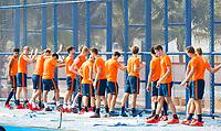 BHUBANESWAR (INDIA) -  Het Nederlands team trainde vanmorgen licht voor de wedstrijd tegen Canada bij het WK Hockey heren.   . COPYRIGHT  KOEN SUYK