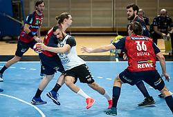 Ozgur Sarak of Trimo Trebnje during handball match between RK Trimo Trebnje and Rhein-Neckar Loewen in 6th Round of EHF Europe League 2020/21, on February 9, 2021 in Hala Tivoli, Ljubljana, Slovenia. Photo by Vid Ponikvar / Sportida