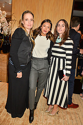 Left to right, BAY GARNETT,HIKARI YOKOYAMA and TANIA FARES at the Louis Vuitton for Unicef Event #MAKEAPROMISE held at The Apartment, 17-20 New Bond Street, London on 14th January 2016.