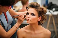 Natasha Poly backstage at Valentino - Fall 2007 Couture