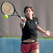 TOKYO, JAPAN - JULY 20: Carla Suarez Navarro of Spain practicing at Ariake Tennis Park in preparation for the Tokyo 2020 Olympic Games on July 20, 2021 in Tokyo, Japan. (Photo by Tim Clayton/Corbis via Getty Images)