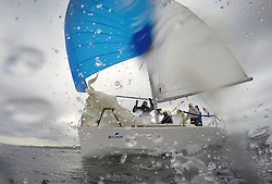 Silvers Marine Scottish Series 2017<br /> Tarbert Loch Fyne - Sailing<br /> <br /> GBR2506T, Edgy, Doug & Alastair Paton, Fairlie Yacht Club, Beneteau 25<br /> <br /> Credit: Marc Turner / CCC