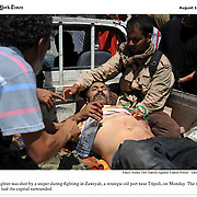 """Screengrab of """"Battle for Libya"""" published in The New York Times"""