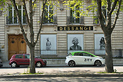 """March, 27th 2020 - Paris, Ile-de-France, France: Paris under confinement, Dessange, Avenue Montaigne area of high fashion, beauty, accessories, haute couture, all shops closed, in 8th arrondissement, and all public spaces virtually empty to stop the spread of the Coronavirus, during the eleventh day of near total lockdown imposed in France. The President of France, Emmanuel Macron, said the citizens must stay at home for at least 15 days, that has been extended. He said """"We are at war, a public health war, certainly but we are at war, against an invisible and elusive enemy"""". All journeys outside the home unless justified for essential professional or health reasons are outlawed. Anyone flouting the new regulations is fined. Nigel Dickinson"""