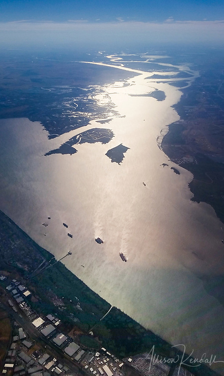 The last remnants of the Suisun Bay Reserve Fleet, where Navy vessels were held in reserve vessels for national defense and national emergency purposes. Since 1946, various ships have been moored at this confluence of the Sacramento River and San Joaquin River, in Northern California.