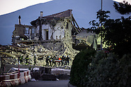 A body is found under the debries in Amatrice