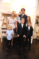 CROWN PRINCE PAVLOS & PRINCESS MARIE-CHANTAL OF GREECE with their children PRINCESS MARIA-OLYMPIA, PRINCE CONSTANTINE, PRINCE ACHILEAS-ANDREAS, PRINCE ODYSSEAS-KIMON and PRINCE ARISTIDE at a party to celebrate the opening of Pincess Marie-Chantal of Greece's store 'Marie-Chantal' 133A Sloane Street, London on 14th October 2008.