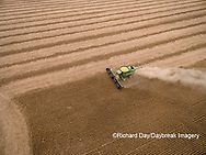 63801-09513 Soybean Harvest, John Deere combine harvesting soybeans - aerial - Marion Co. IL